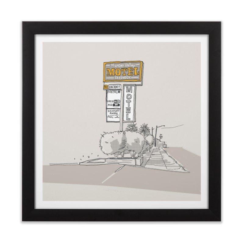 No Vacancy. Free WIFI. Home Framed Fine Art Print by Nicky Dee's Artist Shop