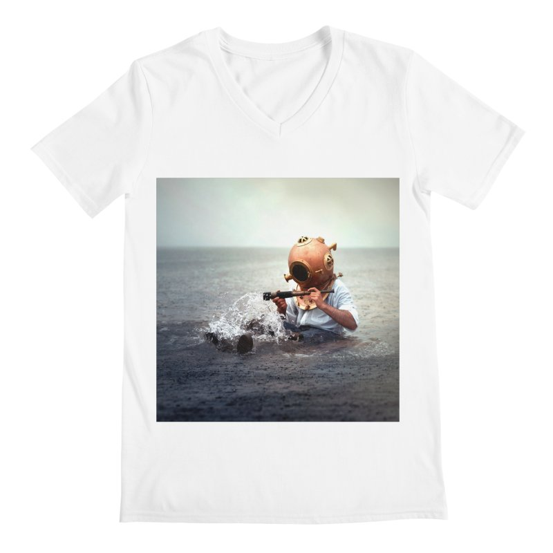 DIVER Men's V-Neck by nicolas bruno's Artist Shop