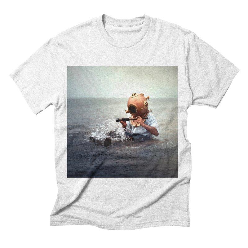 DIVER Men's Triblend T-shirt by nicolas bruno's Artist Shop