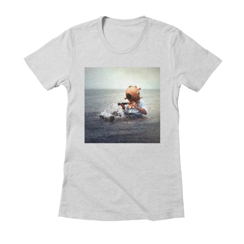 DIVER Women's Fitted T-Shirt by nicolas bruno's Artist Shop