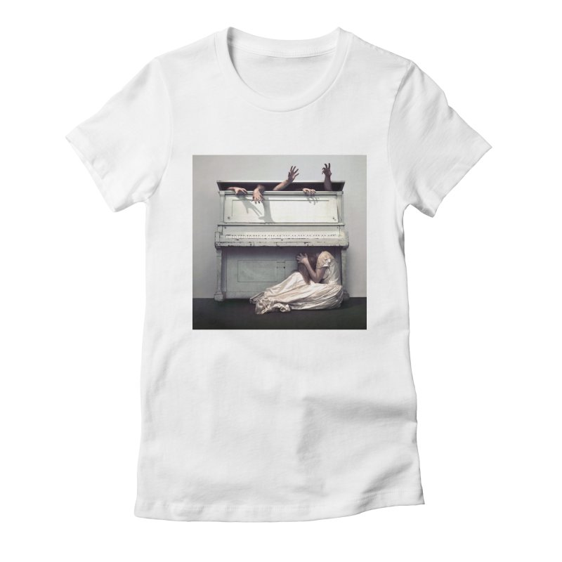 PERDITA Women's Fitted T-Shirt by nicolas bruno's Artist Shop