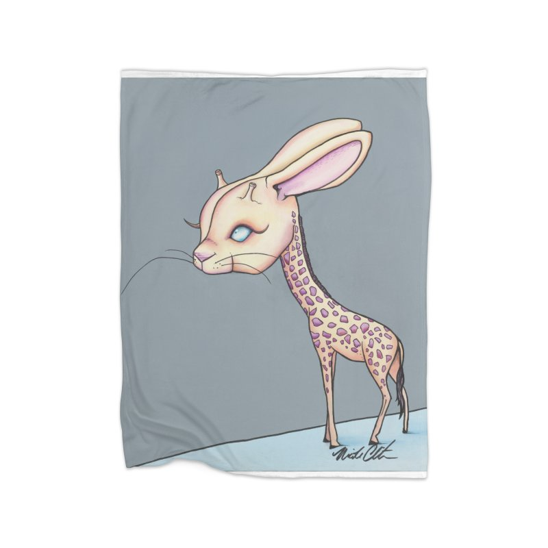 Girrabit Home Fleece Blanket Blanket by Nicole Christman's Artist Shop