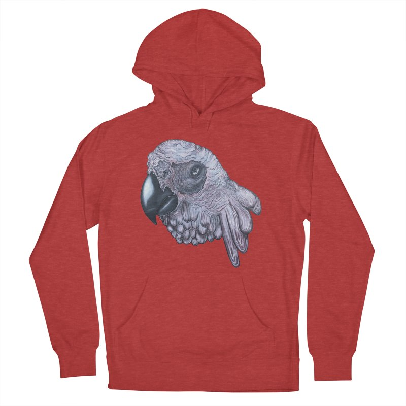 Gray Women's French Terry Pullover Hoody by Nicole Christman's Artist Shop