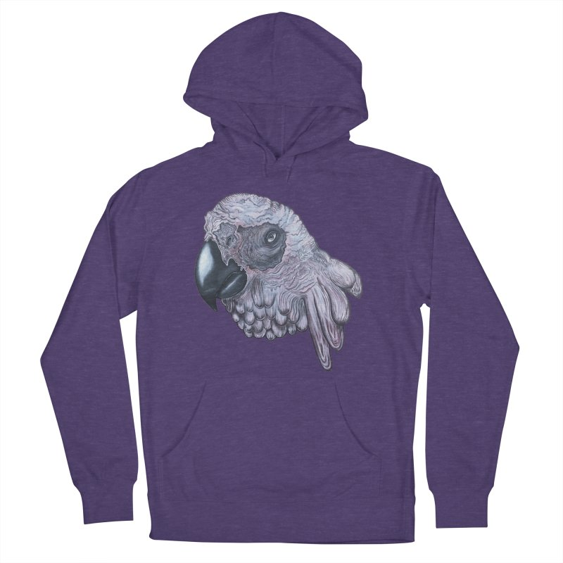 Gray Men's French Terry Pullover Hoody by Nicole Christman's Artist Shop