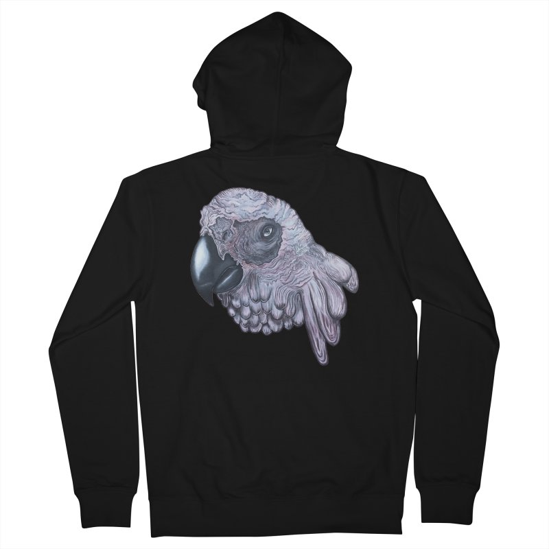 Gray Men's French Terry Zip-Up Hoody by Nicole Christman's Artist Shop
