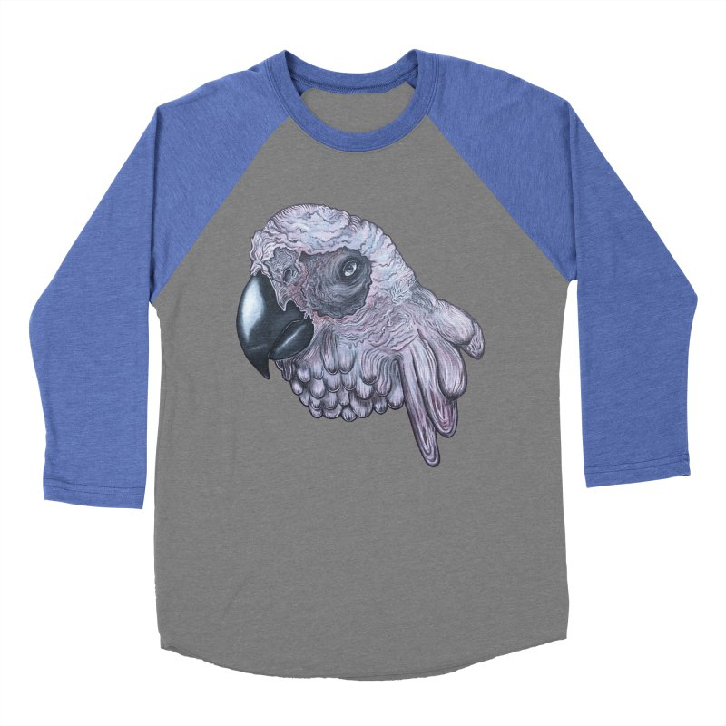 Gray Men's Baseball Triblend Longsleeve T-Shirt by Nicole Christman's Artist Shop