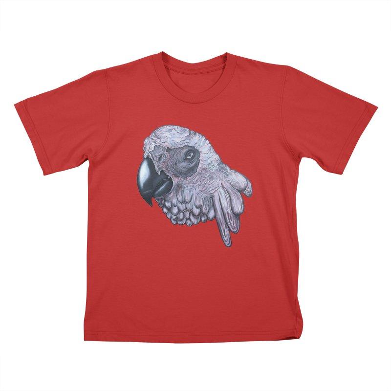 Gray Kids T-Shirt by Nicole Christman's Artist Shop