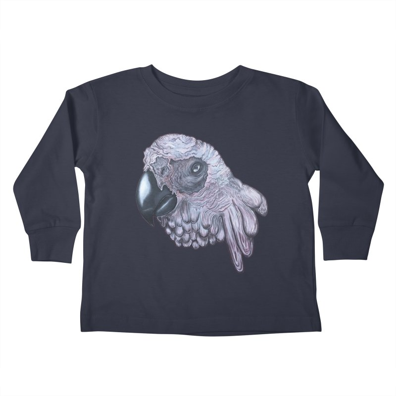 Gray Kids Toddler Longsleeve T-Shirt by Nicole Christman's Artist Shop
