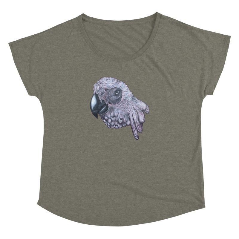 Gray Women's Dolman Scoop Neck by Nicole Christman's Artist Shop