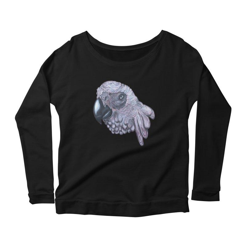 Gray Women's Scoop Neck Longsleeve T-Shirt by Nicole Christman's Artist Shop
