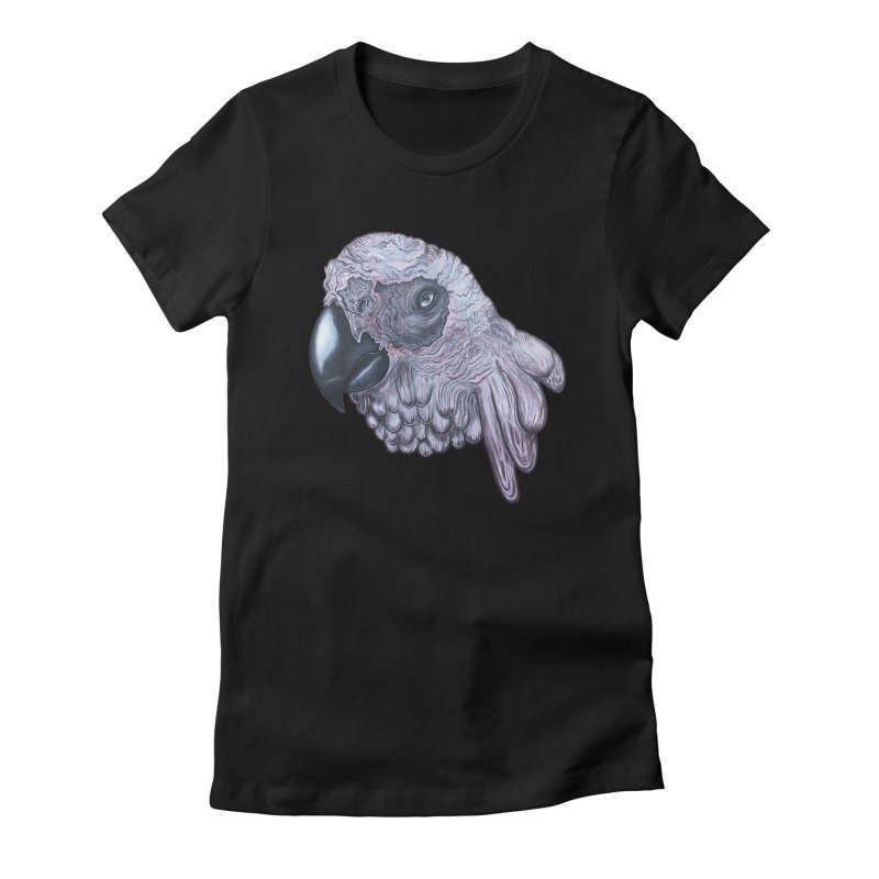 Gray Women's Fitted T-Shirt by Nicole Christman's Artist Shop