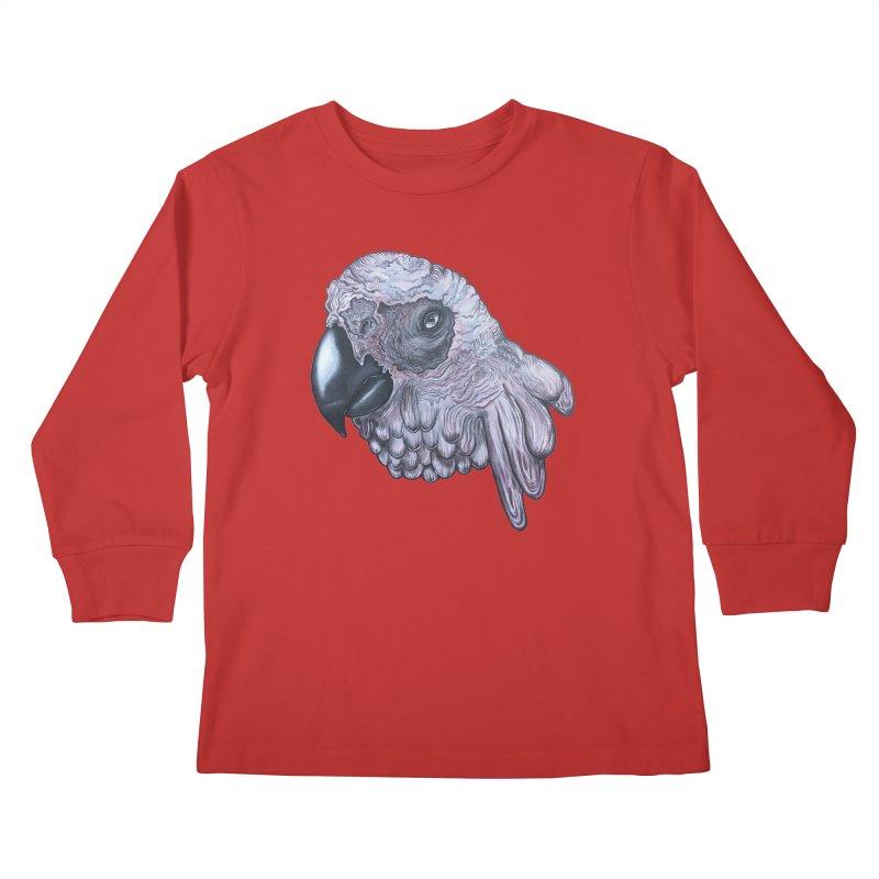 Gray Kids Longsleeve T-Shirt by Nicole Christman's Artist Shop