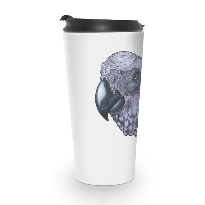 Gray Accessories Travel Mug by Nicole Christman's Artist Shop