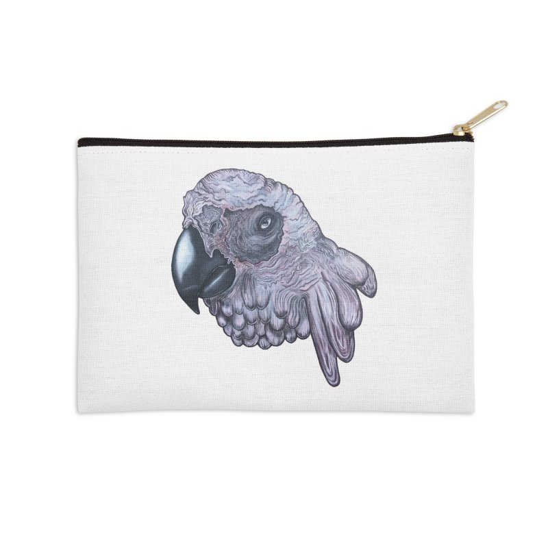 Gray Accessories Zip Pouch by Nicole Christman's Artist Shop