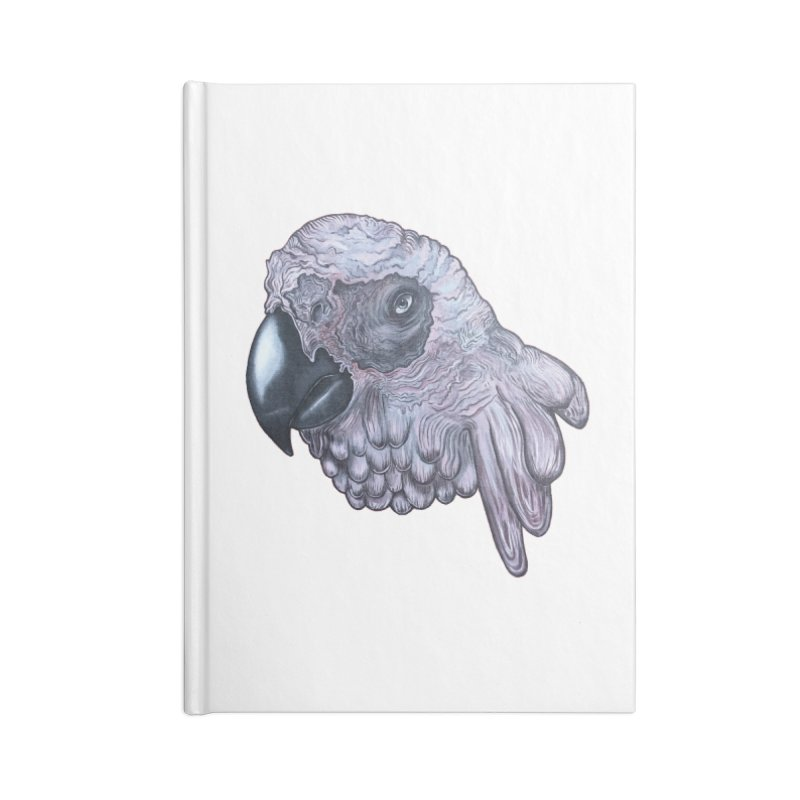 Gray Accessories Lined Journal Notebook by Nicole Christman's Artist Shop