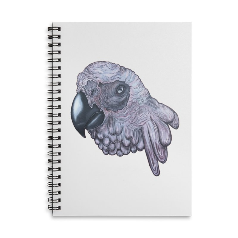 Gray Accessories Lined Spiral Notebook by Nicole Christman's Artist Shop