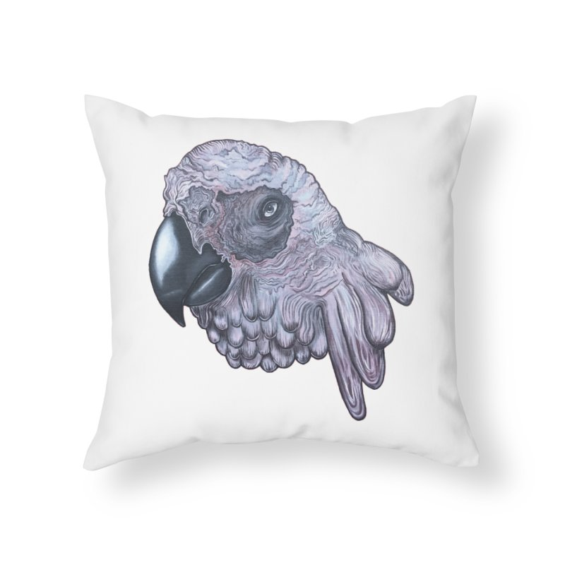Gray Home Throw Pillow by Nicole Christman's Artist Shop