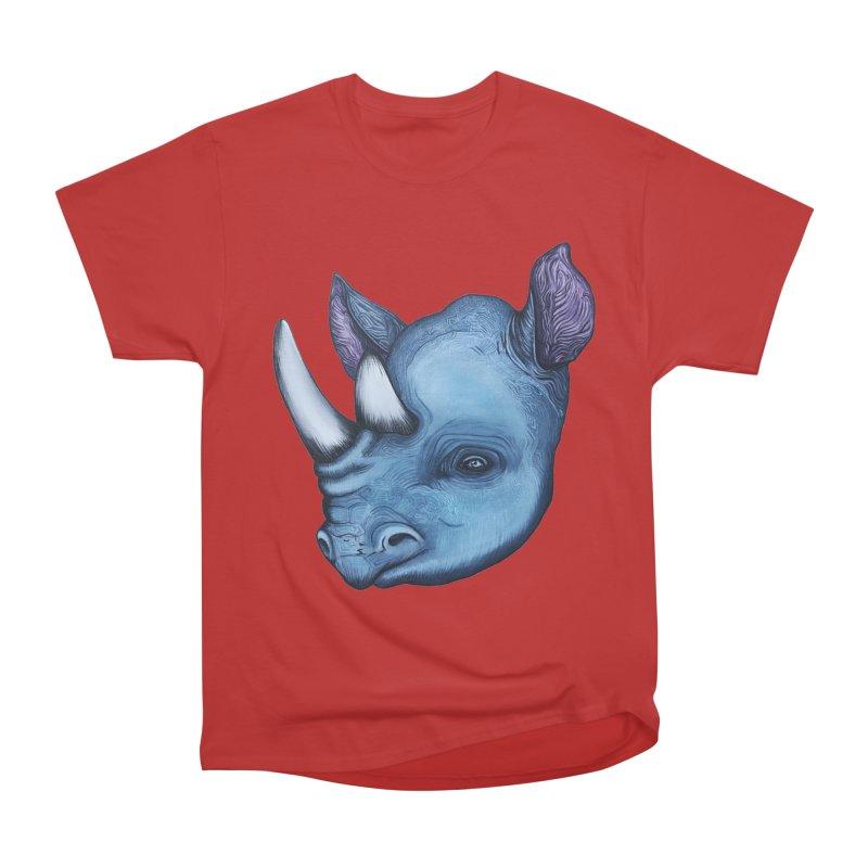 Rhino Men's Heavyweight T-Shirt by Nicole Christman's Artist Shop