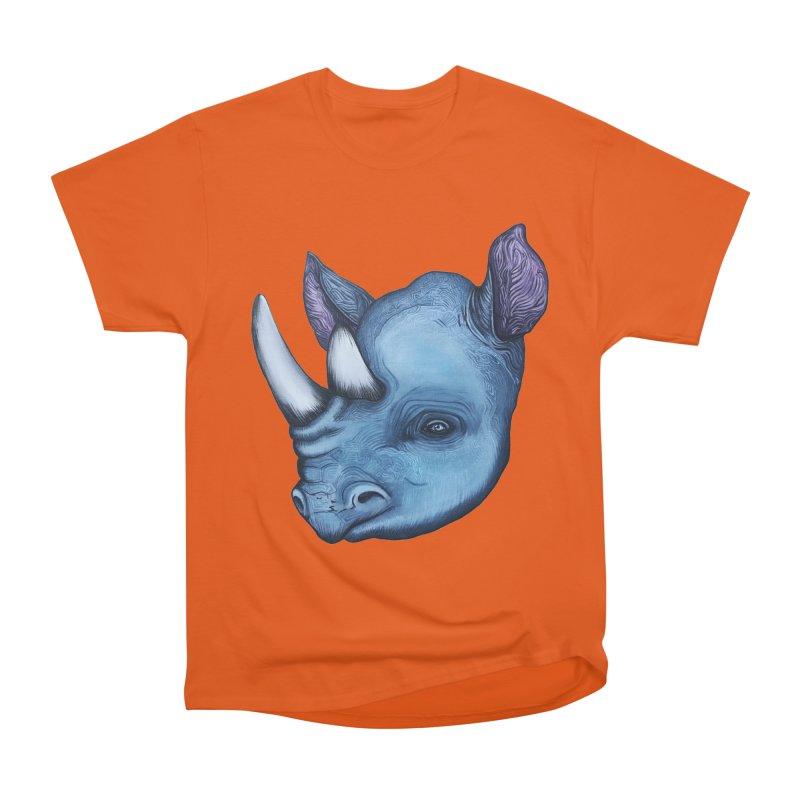 Rhino Women's Heavyweight Unisex T-Shirt by Nicole Christman's Artist Shop