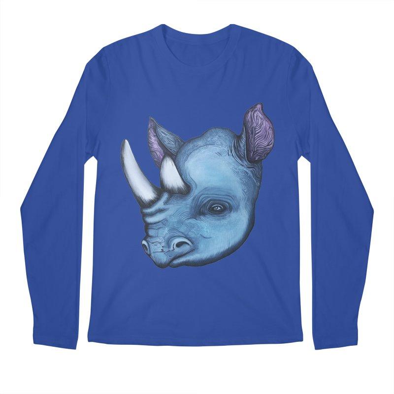Rhino Men's Regular Longsleeve T-Shirt by Nicole Christman's Artist Shop