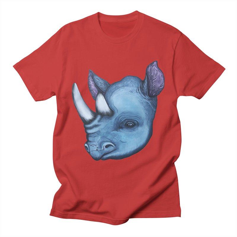 Rhino Men's T-Shirt by Nicole Christman's Artist Shop