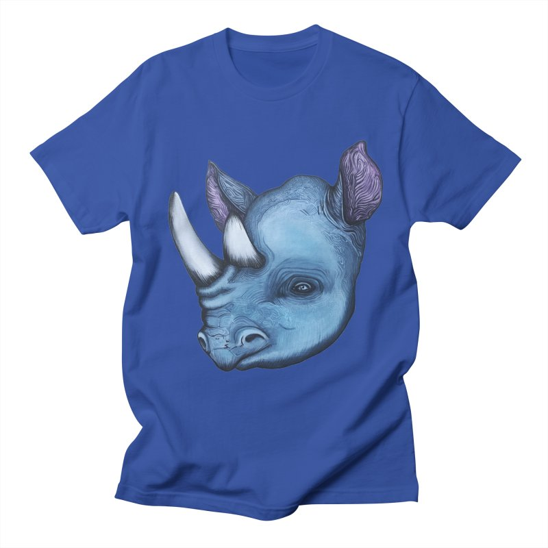 Rhino Men's Regular T-Shirt by Nicole Christman's Artist Shop