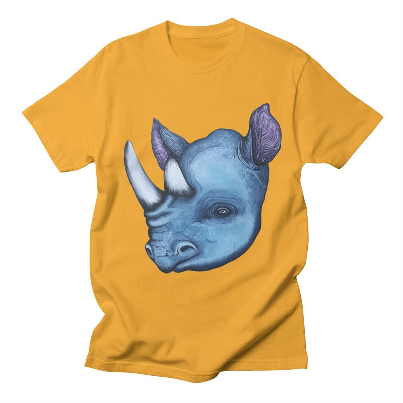 Rhino Men's Regular T-Shirt by Nicole Christman's Artist Shop