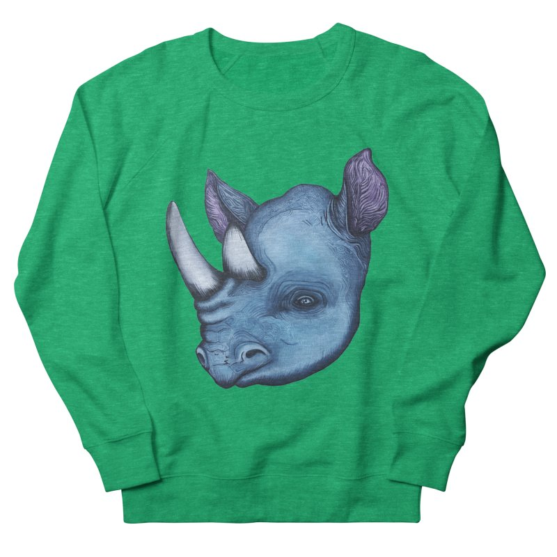 Rhino Women's Sweatshirt by Nicole Christman's Artist Shop