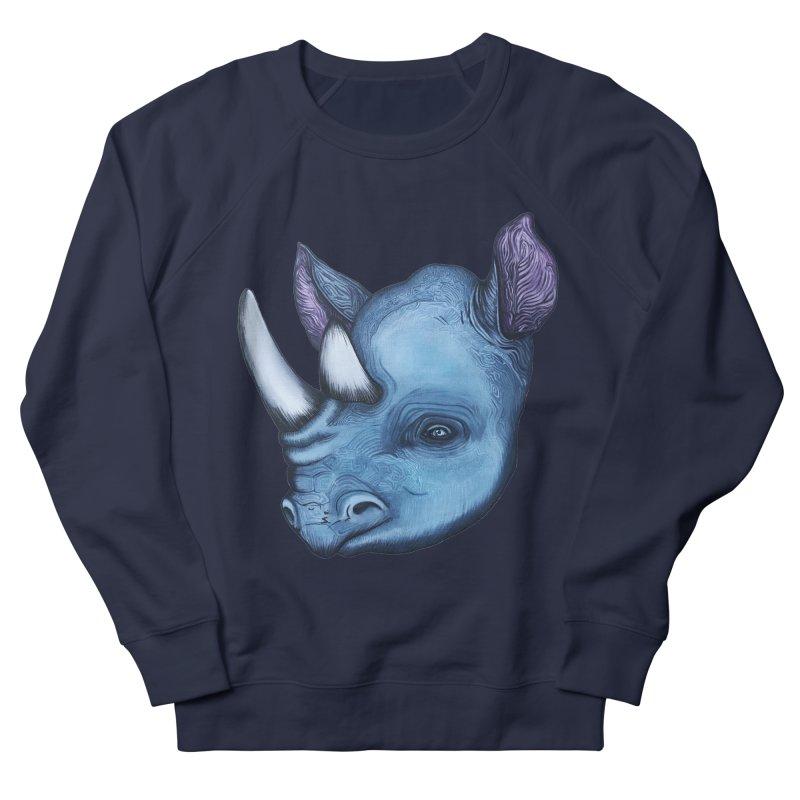 Rhino Women's French Terry Sweatshirt by Nicole Christman's Artist Shop