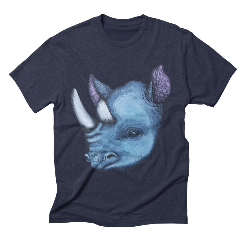 Rhino Men's Triblend T-Shirt by Nicole Christman's Artist Shop