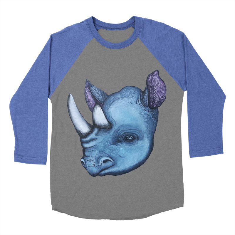 Rhino Women's Baseball Triblend Longsleeve T-Shirt by Nicole Christman's Artist Shop