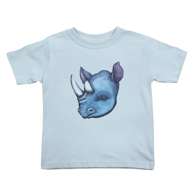 Rhino Kids Toddler T-Shirt by Nicole Christman's Artist Shop