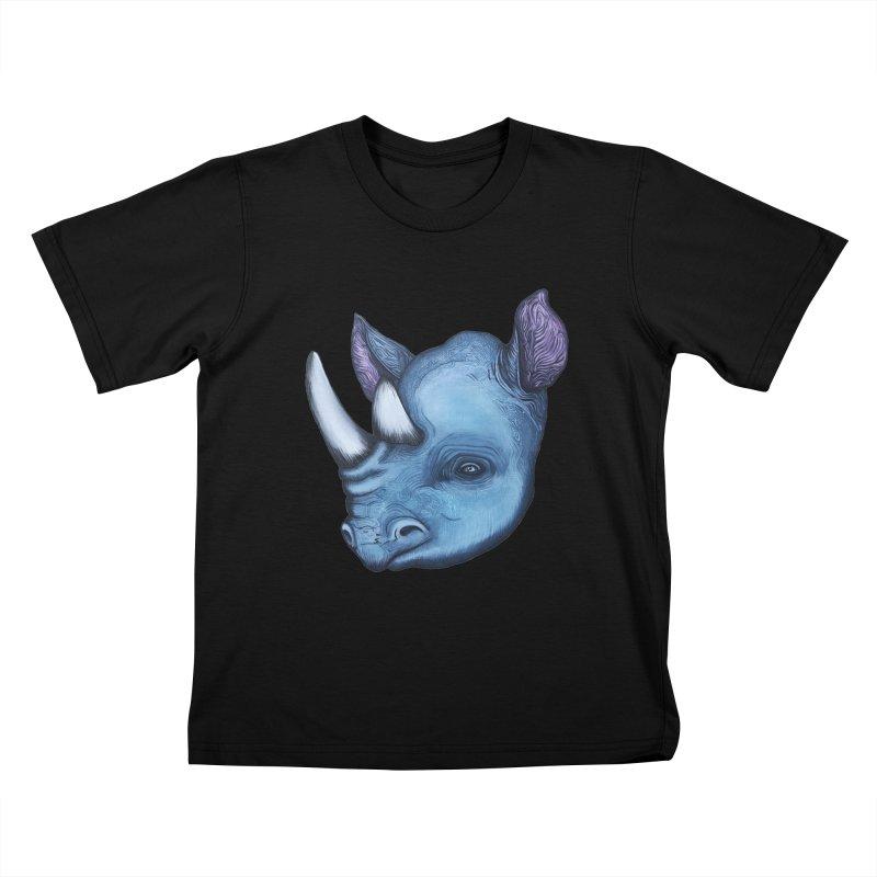 Rhino Kids T-Shirt by Nicole Christman's Artist Shop