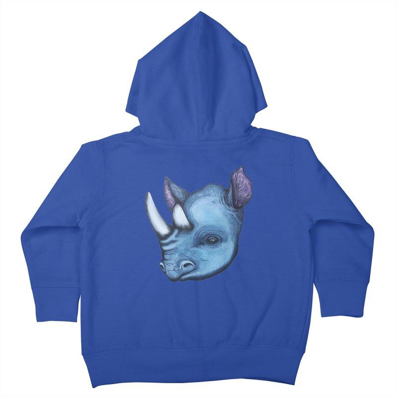 Rhino Kids Toddler Zip-Up Hoody by Nicole Christman's Artist Shop