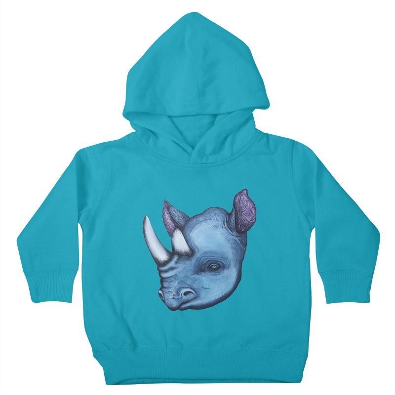 Rhino Kids Toddler Pullover Hoody by Nicole Christman's Artist Shop