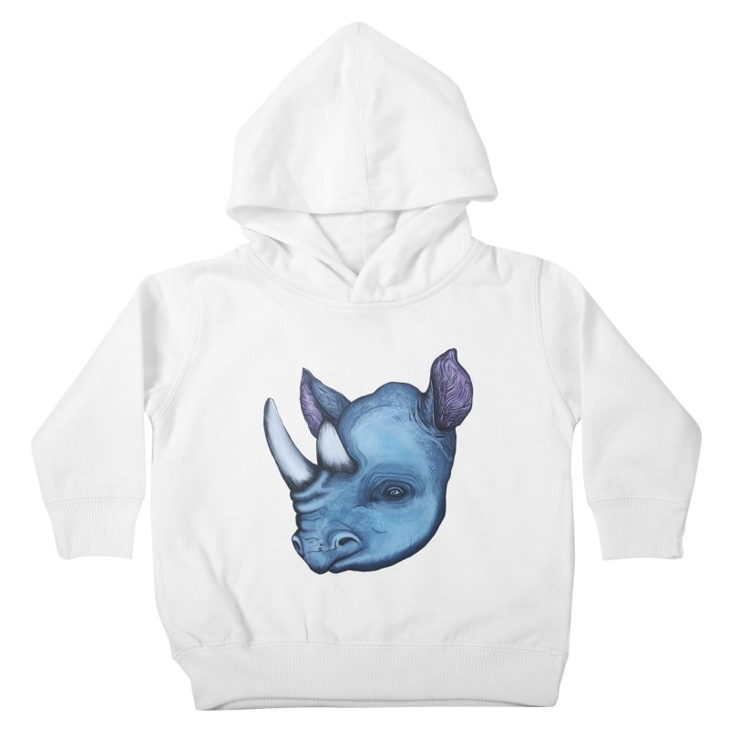 Rhino Kids Toddler Pullover Hoody by Nicole Christman's Artist Shop