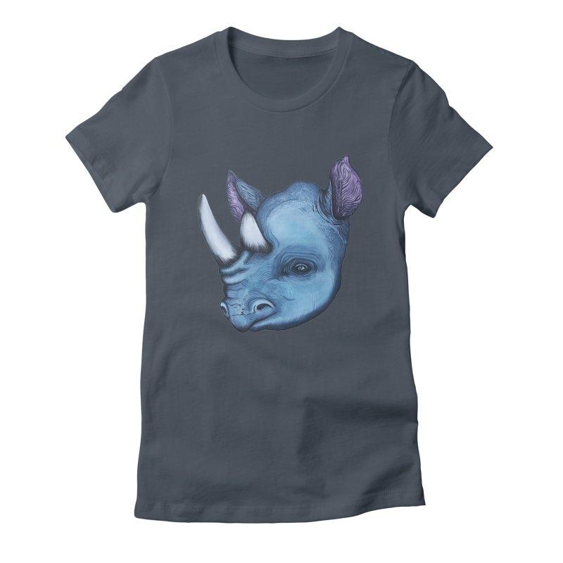 Rhino Women's T-Shirt by Nicole Christman's Artist Shop