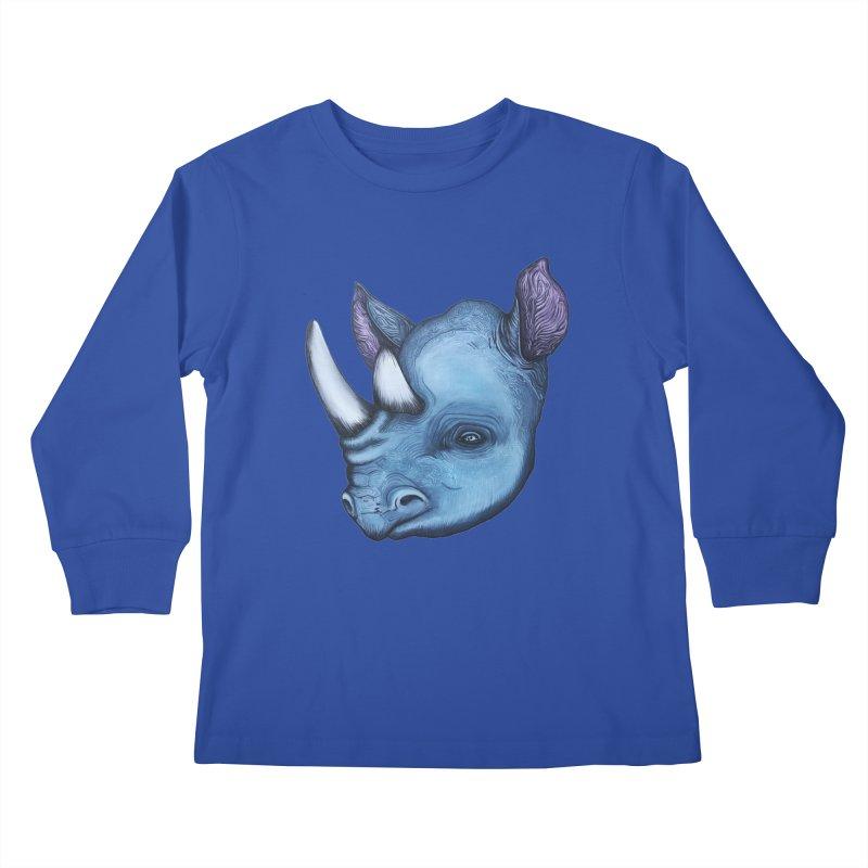 Rhino Kids Longsleeve T-Shirt by Nicole Christman's Artist Shop