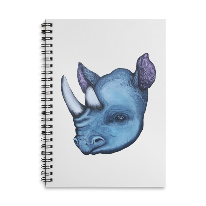 Rhino Accessories Lined Spiral Notebook by Nicole Christman's Artist Shop