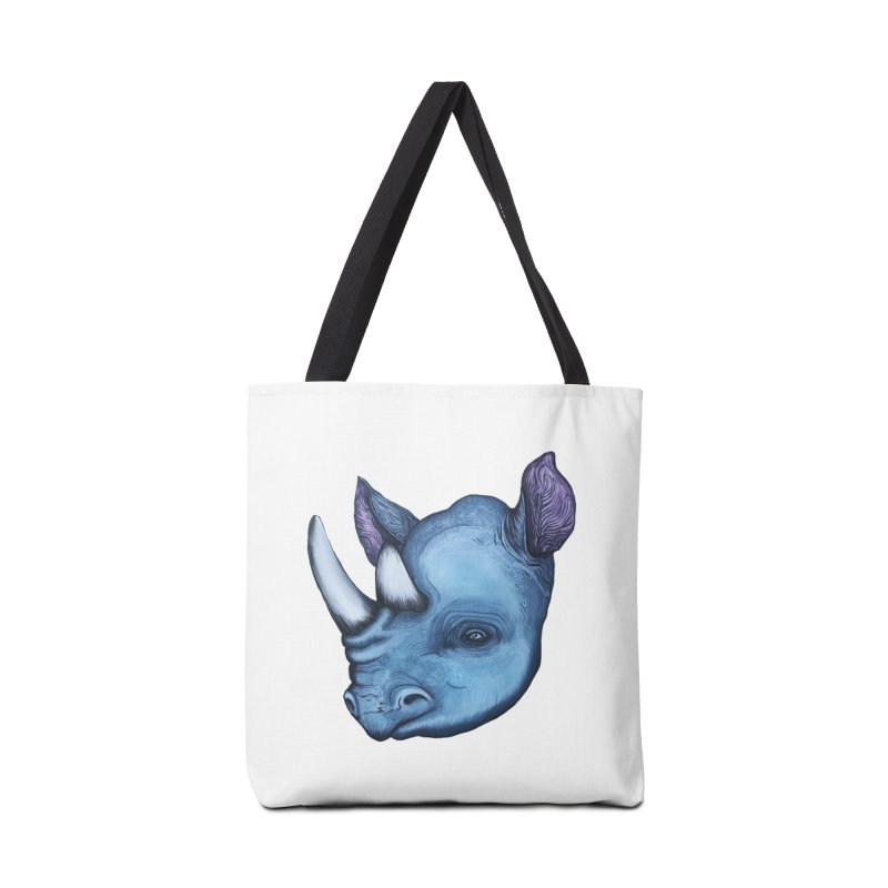 Rhino Accessories Tote Bag Bag by Nicole Christman's Artist Shop