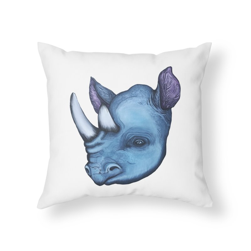 Rhino Home Throw Pillow by Nicole Christman's Artist Shop