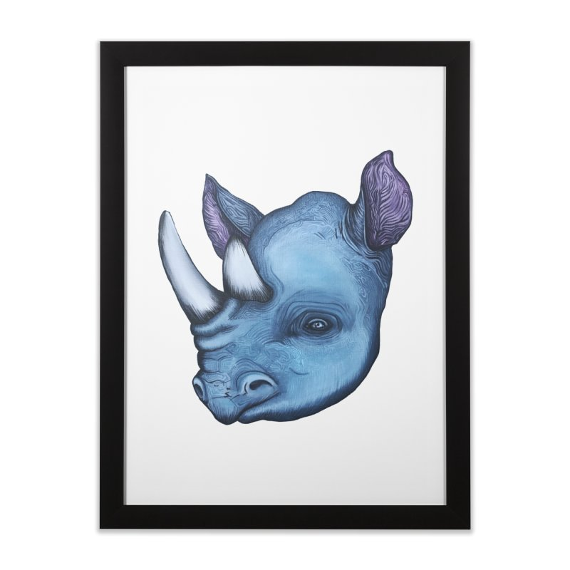 Rhino Home Framed Fine Art Print by Nicole Christman's Artist Shop