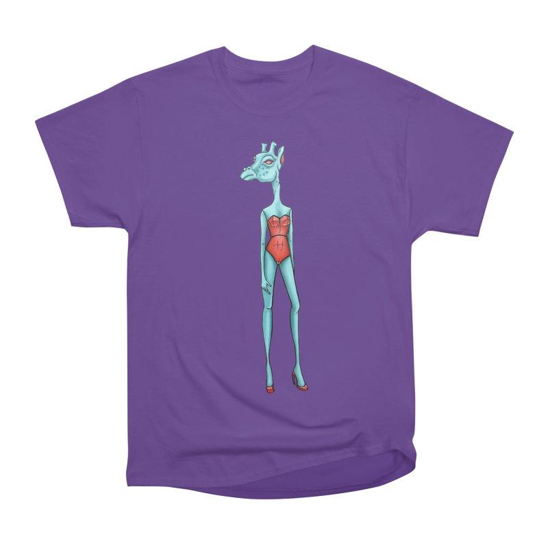 Giraffe Girl Women's Heavyweight Unisex T-Shirt by Nicole Christman's Artist Shop