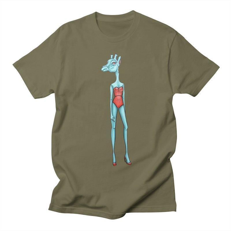 Giraffe Girl Women's Regular Unisex T-Shirt by Nicole Christman's Artist Shop