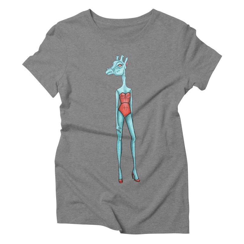 Giraffe Girl Women's Triblend T-Shirt by Nicole Christman's Artist Shop