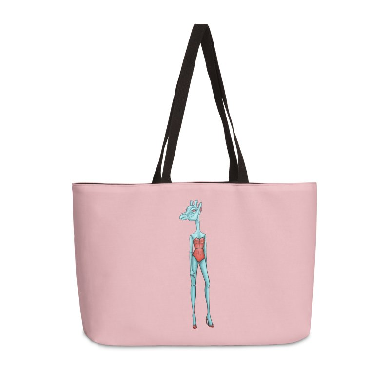 Giraffe Girl Accessories Weekender Bag Bag by Nicole Christman's Artist Shop