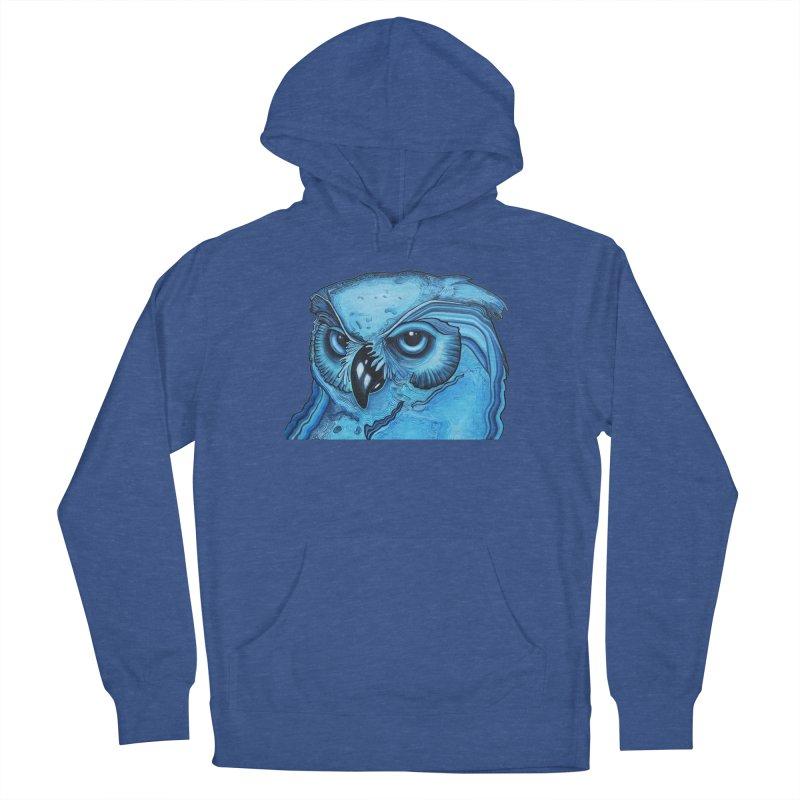 Blue Owl Men's Pullover Hoody by Nicole Christman's Artist Shop