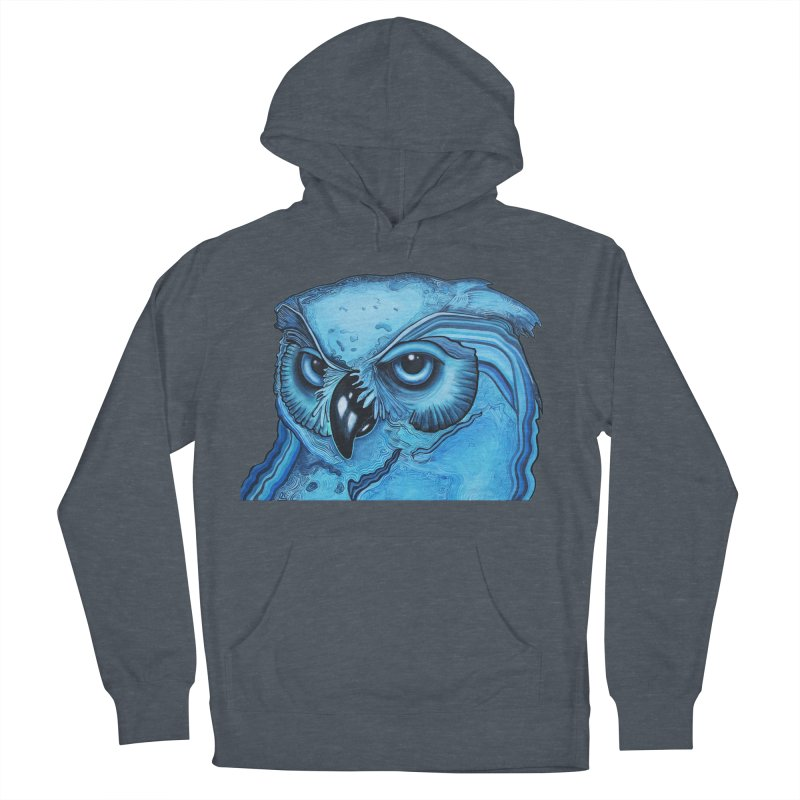 Blue Owl Women's French Terry Pullover Hoody by Nicole Christman's Artist Shop