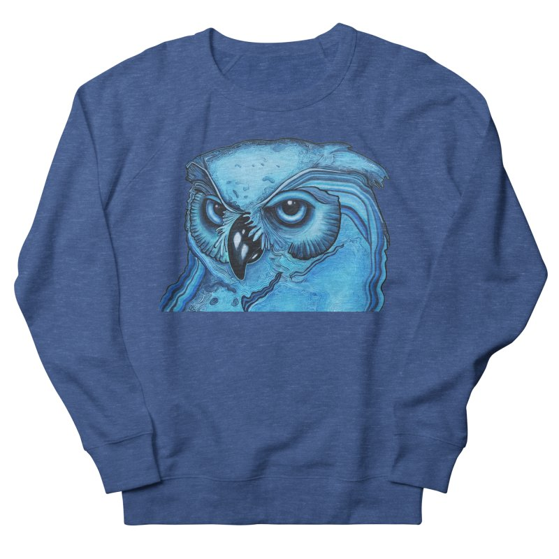 Blue Owl Men's Sweatshirt by Nicole Christman's Artist Shop
