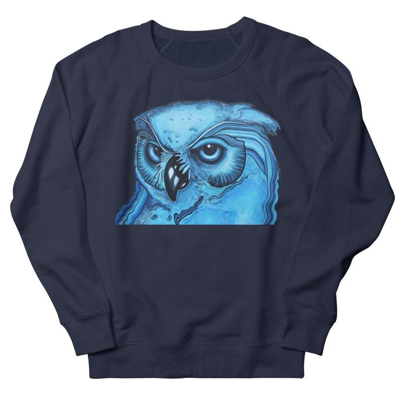 Blue Owl Men's Sweatshirt by Nicole Christman's Artist Shop